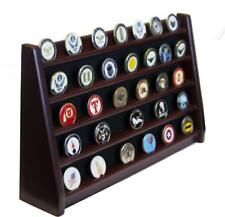 5 Rows Shelf Challenge Coin Holder Display Casino Chips Holder Solid Wood