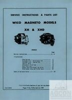 Wico Magneto Service Ins. Parts List Manual XH and XHD