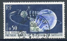 """TIMBRE FRANCE OBLITERE N° 1361 PREMIERE LIAISON DE TELE PAR SATELLITE """"TELSTAR"""""""