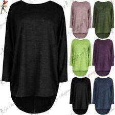 Maglie e camicie da donna verde asimmetrici