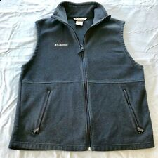 Columbia Men's Fleece Full Zip Vest Blue Size Large