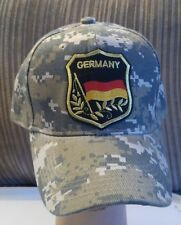 Camo German Flag Hat Baseball Cap Camouflage. Adjustable Structured Hat