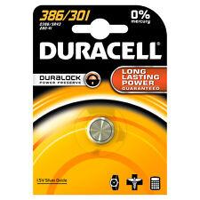 1x Duracell 386/301 1.5v Silver Oxide Watch Battery Sr43 D301/386 V301 V386