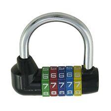 502412 Bicicleta Dial Contraseña Combinación Candado Cerradura de seguridad 70mm de 5 dígitos