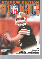 Tim Couch Cleveland Browns vs. Pittsburgh Steelers program 9/17/00