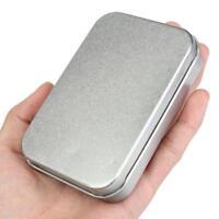 Survival Kit Tin Small Empty Silver Metal Storage Box Case Organizer For Money