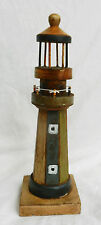 Large Hand Made and Painted Wooden Model Lighthouse - Decorative Item - BNWT