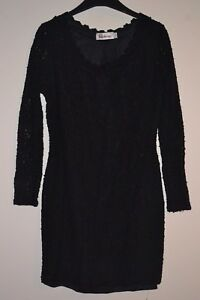 Stunning Kaleidoscope Black Lined Lacy Cocktail /  Dress Size 14