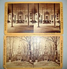 J. Cremer 2 Real Photo Stereoview Cards-Independence Hall / Chamber Late 1800s
