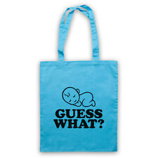 GUESS WHAT? BABY PREGNANT REVEAL NEW MUM MATERNITY SHOULDER TOTE SHOP BAG