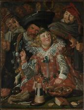 Fêtards du Mardi Gras (Frans Hals) - poster métal - art mural