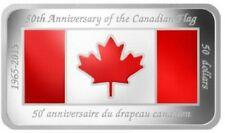 2015 $50 FINE SILVER COIN - 50TH ANNIVERSARY OF THE CANADIAN FLAG - 1.5 OZ. BAR