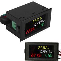 AC 80-300V 100A Color LCD Digital Voltmeter Amperemeter Volt Amp Power Kwh Meter