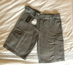 "CARGO SHORTS men's 34 waist NWT belted""1688 Revolution Fashion"" 4 colors avail"