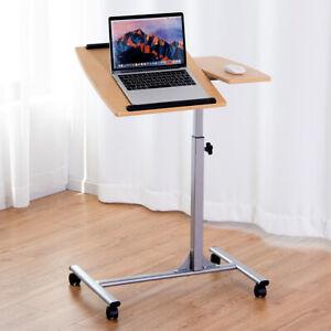 Adjustable Mobile Laptop Table Computer Desk Bed  Bedside Portable Home Office