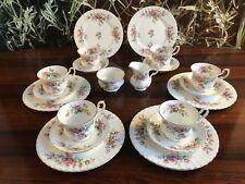 ROYAL ALBERT England MOSS ROSE - edles 20 teiliges Kaffeeservice für 6 Personen