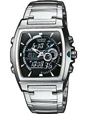 Casio EFA-120D-1AVEF Men's Analog & Digital Quartz Multifunction Watch Steel NEW
