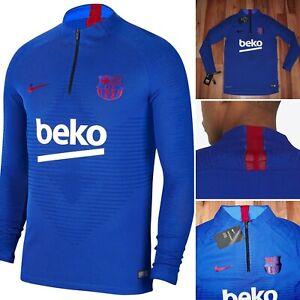 NWT Nike FC Barcelona VaporKnit Strike Drill Top Shirt Jacket AO4988 402 Small S