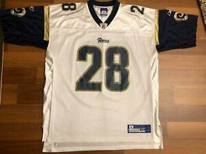 REEBOK NFL FOOTBALL LOS ANGELES RAMS #28 MARSHALL FAULK JERSEY SIZE XL ST LOUIS!
