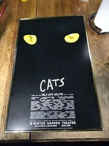 CATS ON BROADWAY--MINI MARQUEE PICTURE--EXPENSIVE FRAME--1981--AWESOME LOOK!!!