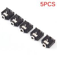 5Pcs 3.5mm Female 5pin Stereo Headset Interior PCB Mount Audio Jack SocketJB