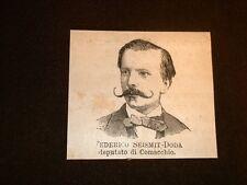 Federico Seismit - Doda nel 1877 Deputato di Comacchio