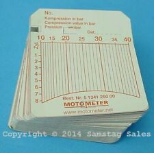 MotoMeter 513.412.5000 Charts-Pack of 100 Diesel 10-40 Bar Made in Germany!