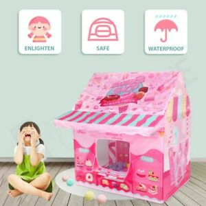 Kids Sweet House Themed Tent Playhouse Indoor Outdoor Pop Up Play Tent