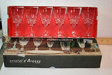GLASSWARE 6 CORDIALS 1-3/4oz Cristal d'Arques Pompadour France