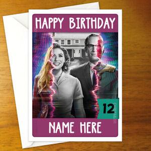 WANDAVISION Personalised Birthday Card - marvel elizabeth olsen paul bettany