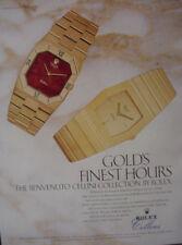 1982 Rolex Benvenuto Cellini Wrist Watch Vintage Print Ad 12847