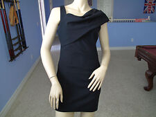 Bebe BLK Pleating Shoulder Flattering Cut Dress NWT$149~XS~Only One~