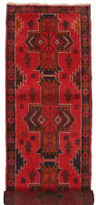 1036 # Red Handmade Traditional Baluchi Rug 292 x 79 cm Hallway Runner Carpet