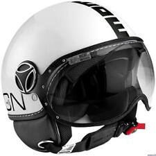 CASQUE MOMO DESIGN CLASSIC BLANC BRILLANT - BLACK TAILLE S