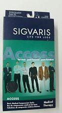 SIGVARIS LIFE FOR LEGS Fir Men SIZE Small/ Long 20-30MMHG Sock Black Free Shippi