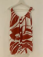 RED WHITE SUMMER DRESS 14 NEXT HOLIDAY BEACH WORK CASUAL PARTY PRETTY GLAM CHIC