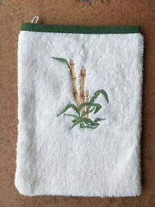 Gant de toilette Hermès / linge de maison / motif bambou