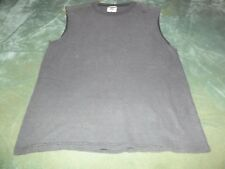 Men's Small Gray Cotton/Polyester Mesh Sleeveless Shirt by Jerzee's