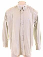 RALPH LAUREN Mens Shirt 2XL Green Cotton Loose Fit Blake DP07