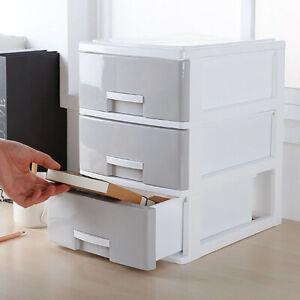 2/3 Drawer Desktop Sorting Storage Desk Organizer Home Office Table Draw Cabinet