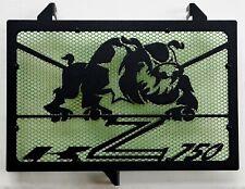 cache grille radiateur Kawasaki Z750 07>12 Bulldog noir mat + grill vert