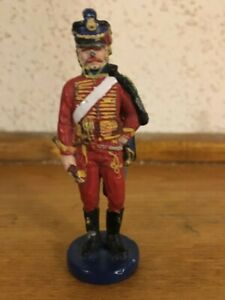 """Vintage Cast Iron Red 3 1/4"""" Tall Soldier"""