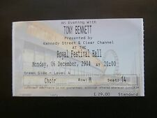 TONY BENNETT - London Royal Festival Hall Ticket Stub (2004)