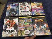 Lot Of 6 Nintendo Gamecube Games Namco Star Wars Madden NHL Top Gun Daytona