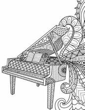 Blank Book Journal : Piano Music Zentangle Cover Diary Notebook: 8. 5 X 11 Si...
