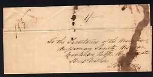St Vincent Entire dep 4 Jan 1841 to London arr 6 May 1841 1s rate