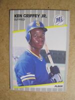 Ken Griffey Jr. 1989 Fleer Rookie Card # 548. Seattle Mariners