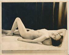 1950s Original 8 x 10 Nude Figure Study Art DBW Photo Sweet Brunette in Repose