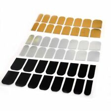 Golden Decoration Beauty Decal 16 Pcs Sticker Nail Art Patch Smooth Silver