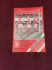 SIGNED -  MALCOLM MACDONALD - Arsenal V Manchester Utd - 19-8-1978